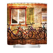 Bicycle Line-up Shower Curtain