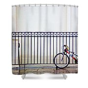 Bicycle New Orleans  Shower Curtain