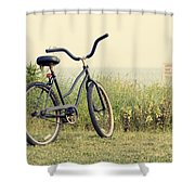 Bicycle On Beach Summer's On The Coast Shower Curtain