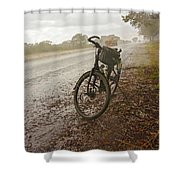 Bicycle On The Road In Botswana Shower Curtain