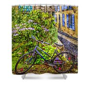 Bicycle On The Square Shower Curtain