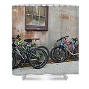 Bicycle Parking Shower Curtain