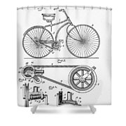 Bicycle Patent 1890 Shower Curtain