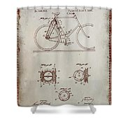 Bicycle Patent Drawing 4a Shower Curtain