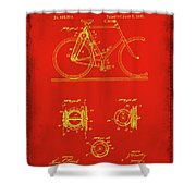 Bicycle Patent Drawing 4c Shower Curtain