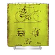 Bicycle Patent Drawing 4d Shower Curtain