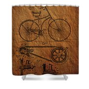 Bicycle Patent From 1890 Shower Curtain