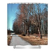 Bicycle Path Shower Curtain