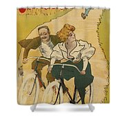 Bicycle Poster, 1895 Shower Curtain