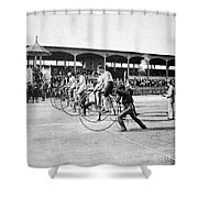 Bicycle Race, 1890 Shower Curtain