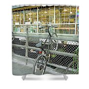 Bicycle Rack Shower Curtain