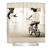Bicycle Rider Shower Curtain