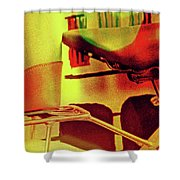 Bicycle Seat Shower Curtain