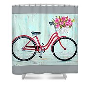 Bicycle Spring Break Shower Curtain