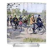 Bicycle Tourists, 1896 Shower Curtain by Granger