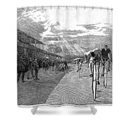 Bicycle Tournament, 1886 Shower Curtain by Granger