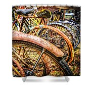 Bicycles Shower Curtain