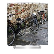 Bicycles In Rome Shower Curtain