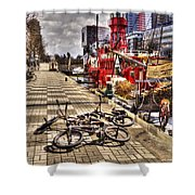 Bicycles In Rotterdam, Netherlands Shower Curtain