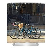 Bicycles On Main Street Shower Curtain