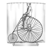 Bicycling, 1880 Shower Curtain