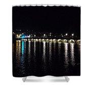 Bideford Long Bridge At Night Shower Curtain