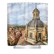 Bierdview Of Historic City Of Salamanca Shower Curtain