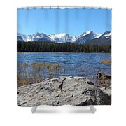 Bierstadt Lake In Rocky Mountain National Park Shower Curtain