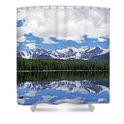 Bierstadt Lake Panorama Shower Curtain