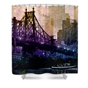 Big Apple Shadows Shower Curtain