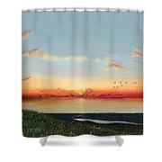 Big Assawoman Bay Shower Curtain
