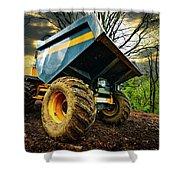 Big Bad Dumper Truck Shower Curtain by Meirion Matthias