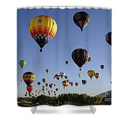 Big Balloons Shower Curtain