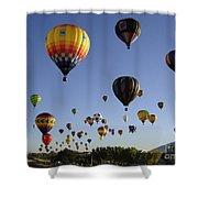 Big Balloons Shower Curtain