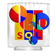 Big Bang Style Shower Curtain