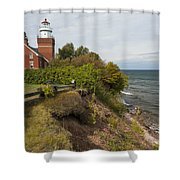 Big Bay Point Lighthouse 2 Shower Curtain
