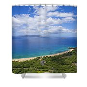 Big Beach Aerial Shower Curtain
