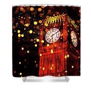 Big Ben Aglow Shower Curtain