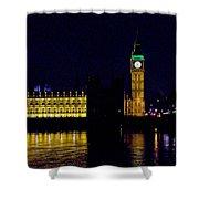 Big Ben Along The Thames Shower Curtain
