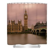 Big Ben And Westminster Bridge, London Shower Curtain