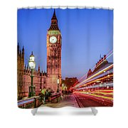Big Ben By Night Shower Curtain