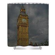 Big Ben During Storm Shower Curtain