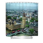 Big Ben From The London Eye Shower Curtain