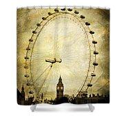 Big Ben In The London Eye Shower Curtain
