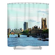 Big Ben, Parliament And River Thames Shower Curtain