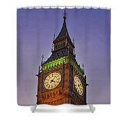 Big Ben Twilight In London Shower Curtain