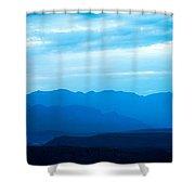Big Bend Blue Haze Shower Curtain