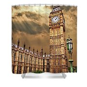 Big Ben's House Shower Curtain by Meirion Matthias