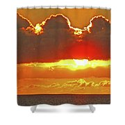 Big Bold Sunset Shower Curtain