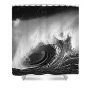 Big Breaking Wave - Bw Shower Curtain